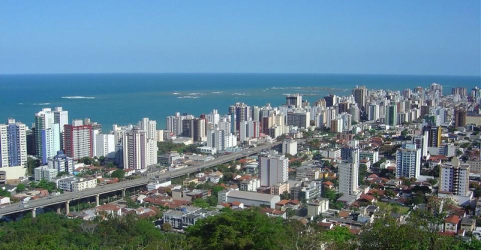 Vista parcial do skyline da cidade de Vila Velha